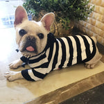 Striped Hooded Sweater - Frenchie N Pug