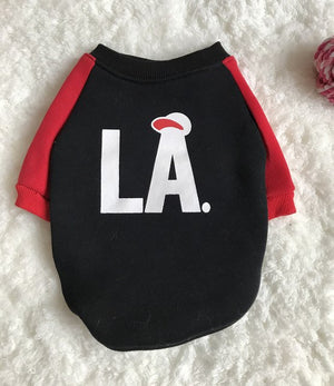 LA Baseball Cotton Sweater - Frenchie N Pug