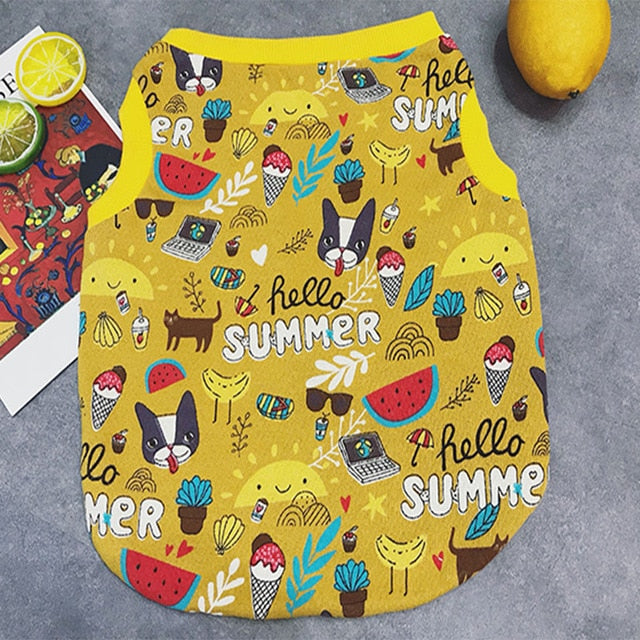 Fruits Cartoon Printing Vest for Pug and Frenchies - Frenchie N Pug
