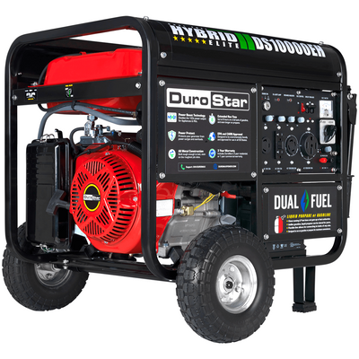 DuroStar DS10000EH 10000-Watt 439cc Dual Fuel Hybrid Generator w/ Electric Start