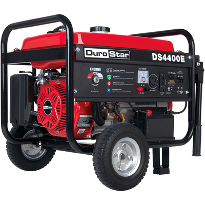 DuroStar DS4400E 4400-Watt 210cc Air Cooled OHV Gas Generator w/ Electric Start and Wheel Kit