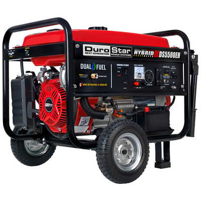 DuroStar DS5500EH 5500-Watt 224cc Electric Start Dual Fuel Hybrid Portable Generator