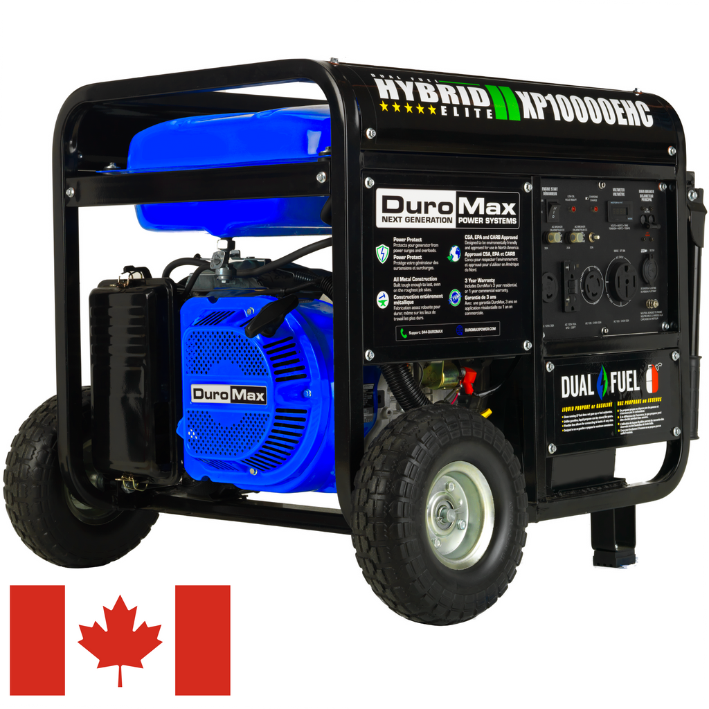 DuroMax XP10000EHC 10,000-Watt 457cc Electric Start Dual Fuel Hybrid Portable Generator for Canada