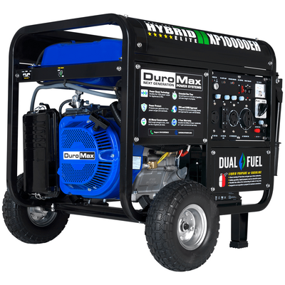 DuroMax XP10000EH 10,000-Watt Electric Start Dual Fuel Hybrid Portable Generator