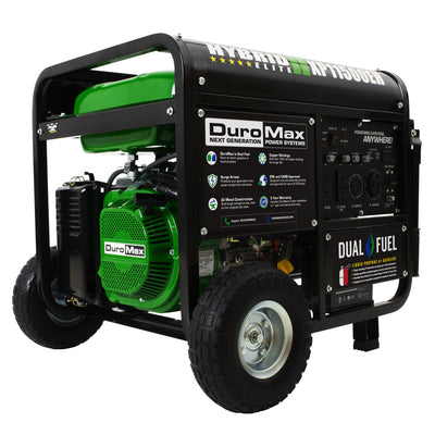 DuroMax XP11500EH 11500-Watt Electric Start Dual Fuel Hybrid Portable Generator