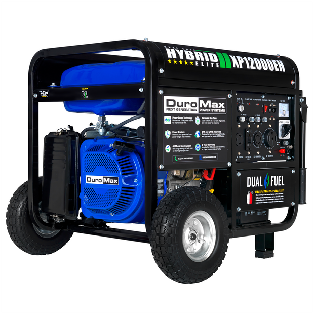 DuroMax XP12000EH 12000-Watt 18 HP Portable Dual Fuel Gas
