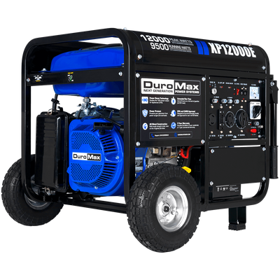 DuroMax XP12000E 12,000-Watt 457cc Portable Gas Electric Start Generator