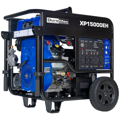DuroMax XP15000EH 15000-Watt 713cc V-Twin Electric Start Dual Fuel Hybrid Portable Generator