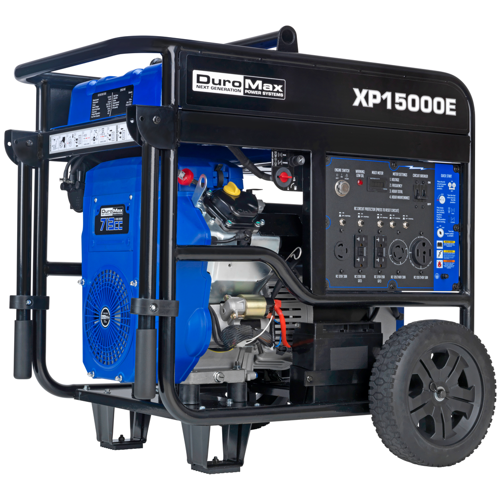 DuroMax XP15000E 15000-Watt V-Twin Gas Powered Electric Start Portable Generator