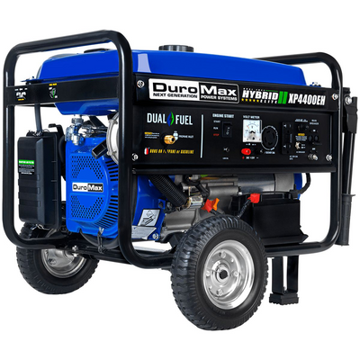 DuroMax XP4400EH 4400-Watt 210cc Electric Start Dual Fuel Hybrid Portable Generator