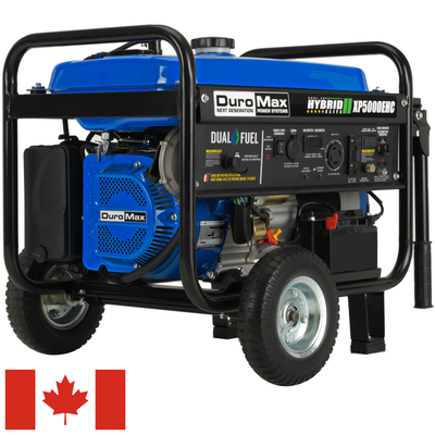 5,000-Watt 224cc Electric Start Dual Fuel Hybrid Portable Generator for Canada