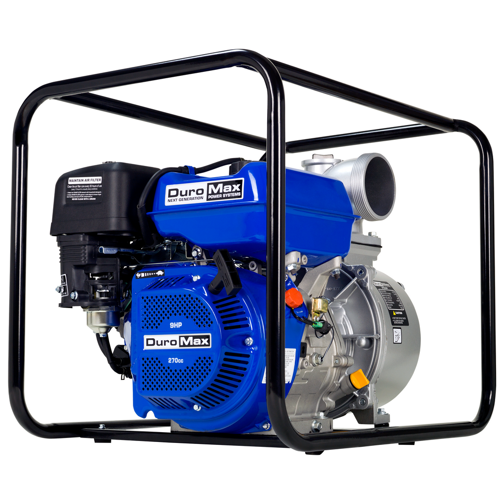DuroMax XP904WP 9-Hp 427-Gpm 3,600-Rpm 4-Inch Gasoline Engine Portable Water Pump