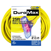 DuroMax XPC10025C 25-Foot 10 Gauge Triple Tap Extension Power Cord