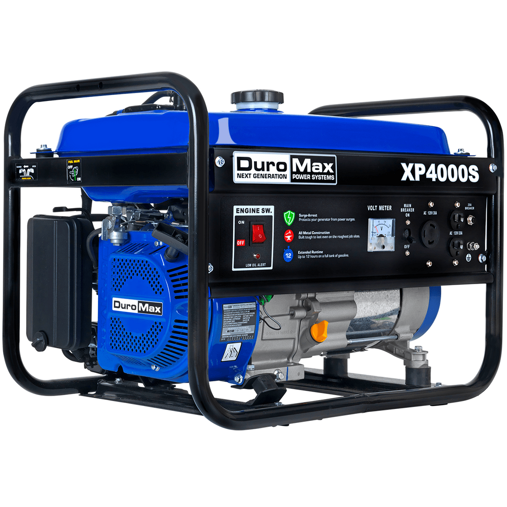 DuroMax XP4000S 4,000-Watt 208cc Air Cooled OHV Gas Engine Portable RV Generator