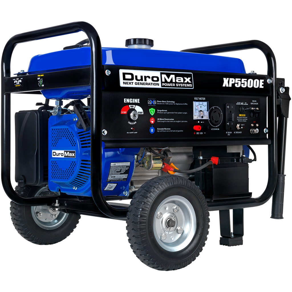 DuroMax XP5500E 5,500-Watt 7.5 HP 36.6-Amp Portable Electric Start Gas Powered Generator