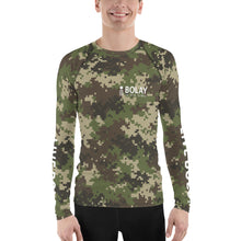 Load image into Gallery viewer, Digital Camo Army Green Men's Rash Guard