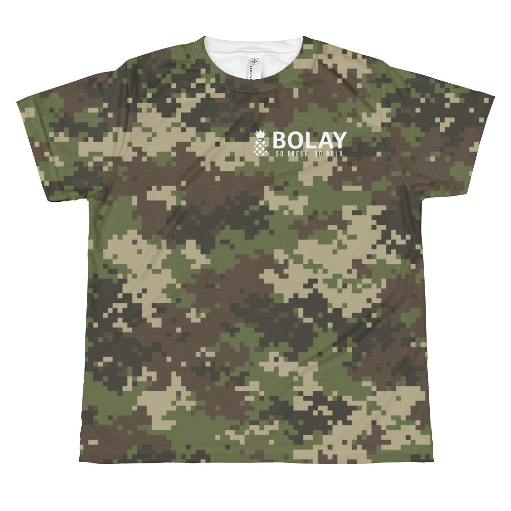 Digital Camo Army Green youth sublimation T-shirt