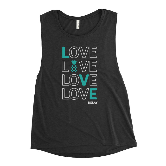 LOVE BOLAY BLACK Ladies' Muscle Tank