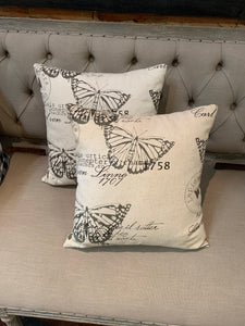 Butterfly Pattern Throw Pillow