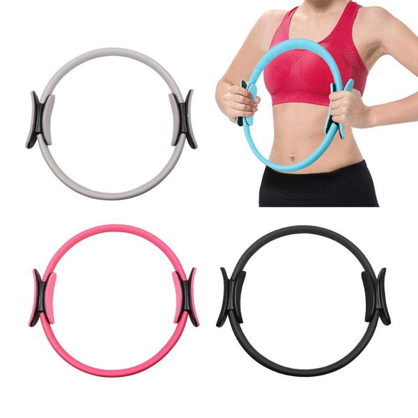 Yoga Circle Dual Grip Yoga Pilates Ring Body Building Training Circle Fitness Circle Gym Workout Pilates Lose Weight Equipment