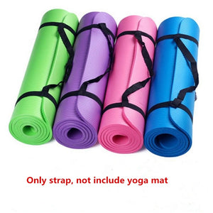 Yoga Mat Strap Carrying Sling Durable Cotton Fitness Yoga Mat Binding Belt Tie
