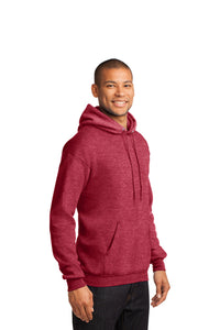 Fleece Pullover Hooded Sweatshirt / Heather Black