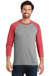 Triblend 3/4-Sleeve Raglan / Gray Frost & Red Frost / VB Futsal