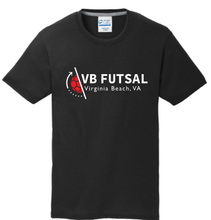 Load image into Gallery viewer, Youth Cotton T-shirt / Black / VBFutsal