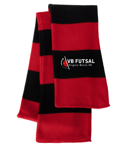 Striped Knit Scarf / Red & Black / VB Futsal