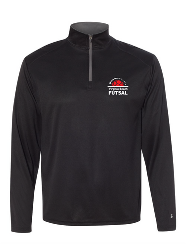 1/4 Zip Pullover / Black / VB Futsal Staff