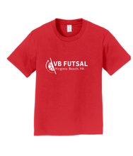 Load image into Gallery viewer, Youth Cotton T-shirt / Red / VBFutsal