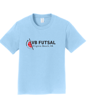 Load image into Gallery viewer, Youth Cotton T-shirt / Light Blue / VBFutsal