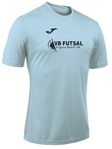 Joma Campus II Short Sleeve Performance Tee / Sky Blue / VB Futsal