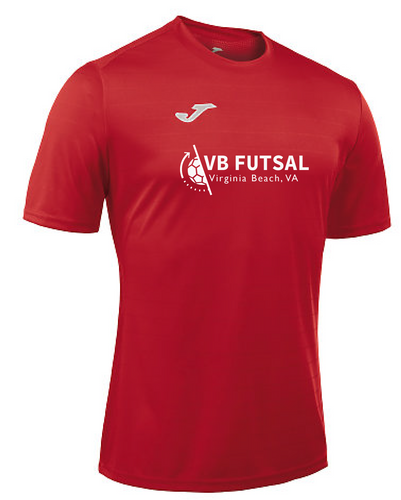 Joma Campus II Short Sleeve Performance Tee / Red / VB Futsal