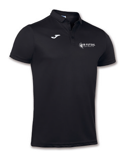 Joma Adult Hobby Short Sleeve Polo Shirt / Black / VB Futsal