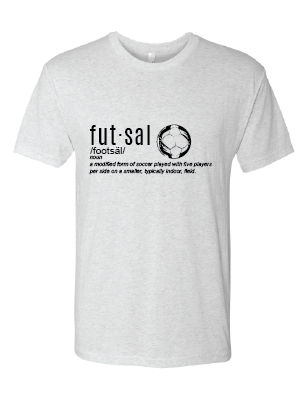 Futsal Definition Short Sleeve T-Shirt / White