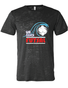 Va Beach Futsal T-Shirt / Heather Dark Gray