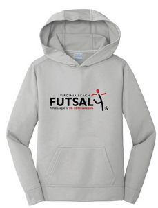 Youth Futsal 4's Youth Performance Hoody / Silver / VBFutsal