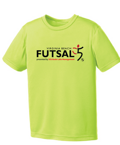 Youth Futsal 5's Youth Performance T-shirt / Neon Yellow / VBFutsal