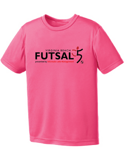 Youth Futsal 5's Youth Performance T-shirt / Hot Pink / VBFutsal