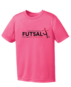 Youth Futsal 4's Youth Performance T-shirt / Hot Pink / VBFutsal