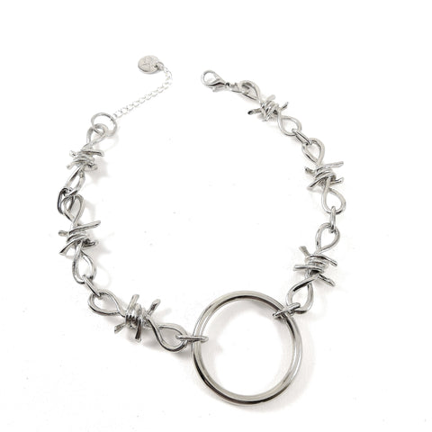 Barbed Wire O-Ring Necklace