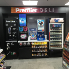 Absolute Drinks coffee tower installed at Heyside Mini Market Premier store