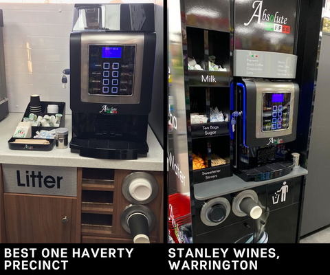 Italia Coffee Machines installed at convenience stores