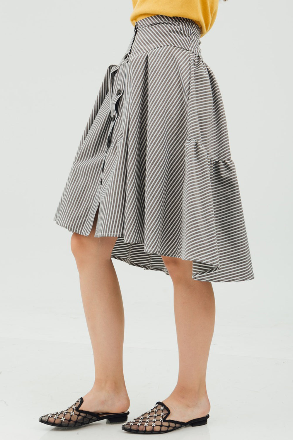 FRONT BUTTON PICNIC SKIRT