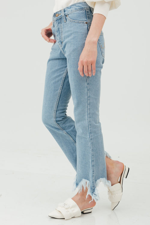 FRINGE CUTBRAY DENIM