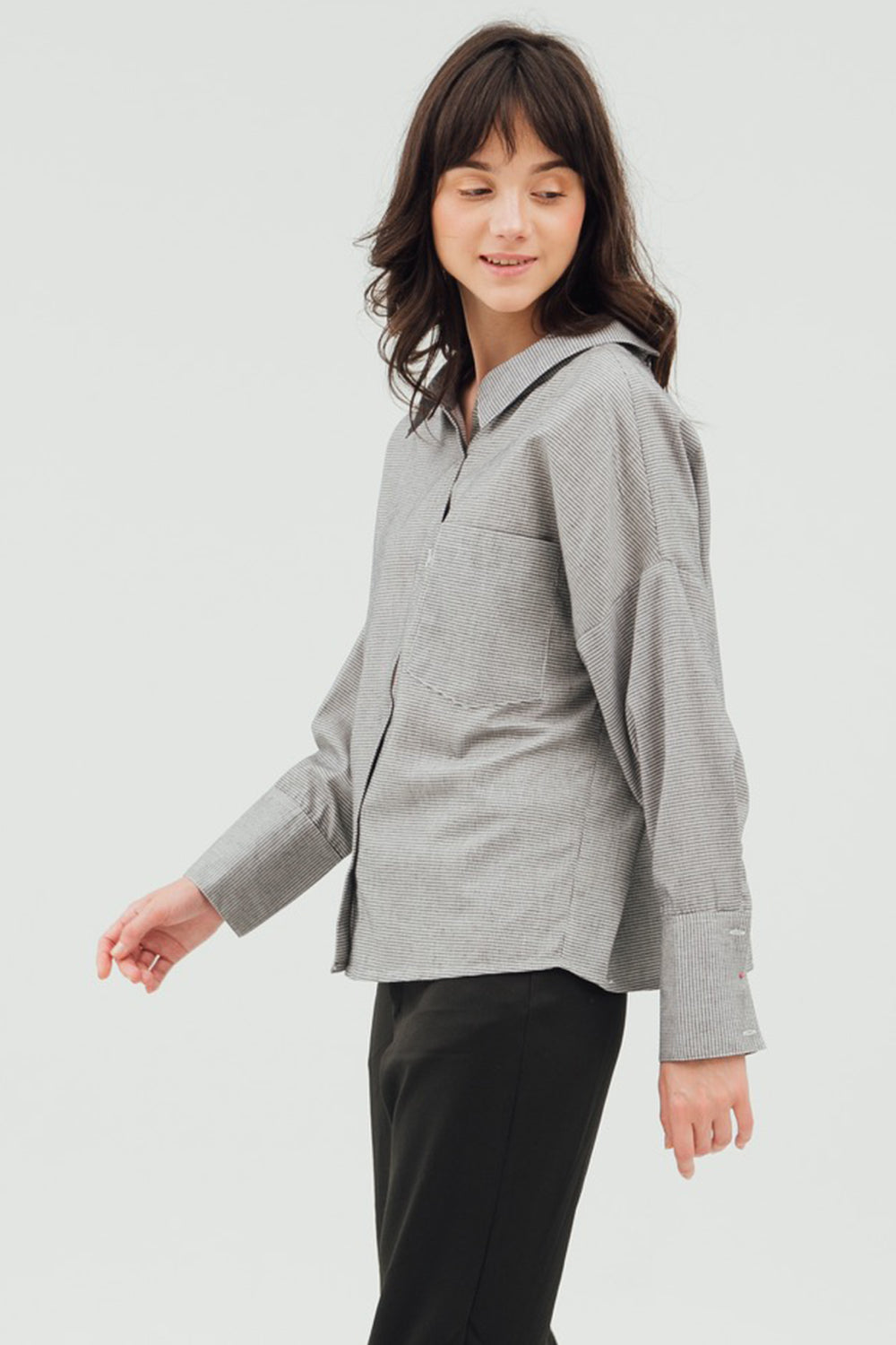 RUCHED BACK BOYFRIEND SHIRT