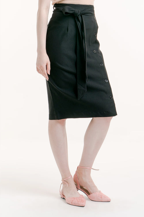 MISHA BUTTON SKIRT