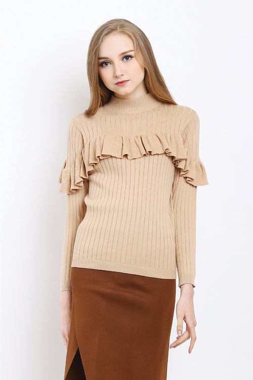 FRILL TURTLENECK SWEATER