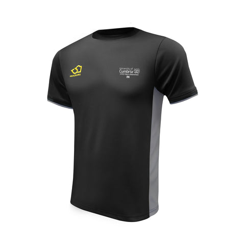 Men's Badminton Black / Grey Training Shirt Senior